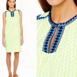 J Crew Arrow Print Shift Dress Size 4